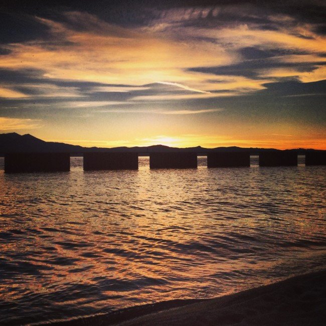 Amazing Sunset at South Lake Tahoe