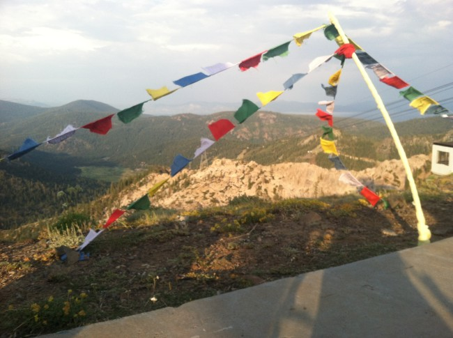 Prayer Flags in wind at Wanderlust Festival Squaw